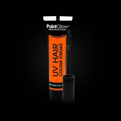 UV lichtgevende haarmascara - Neon Oranje